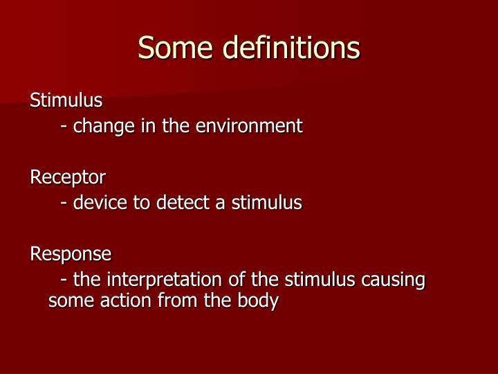 Some definitions