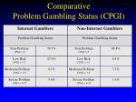 comparative problem gambling status cpgi