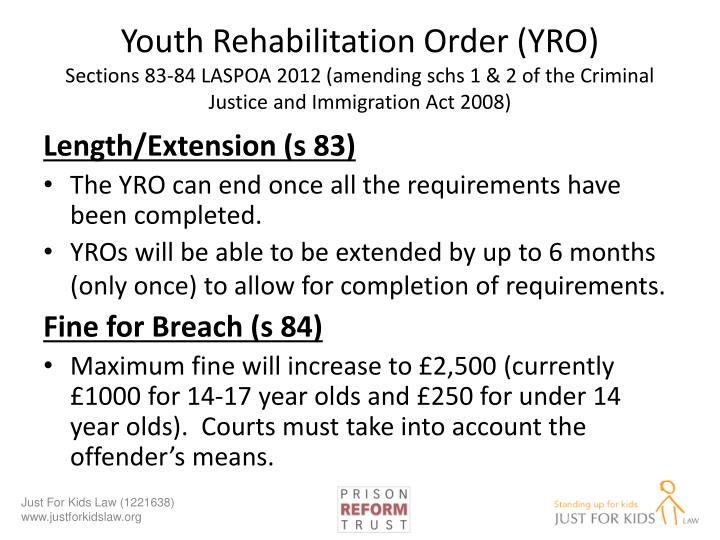 Youth Rehabilitation Order (YRO)