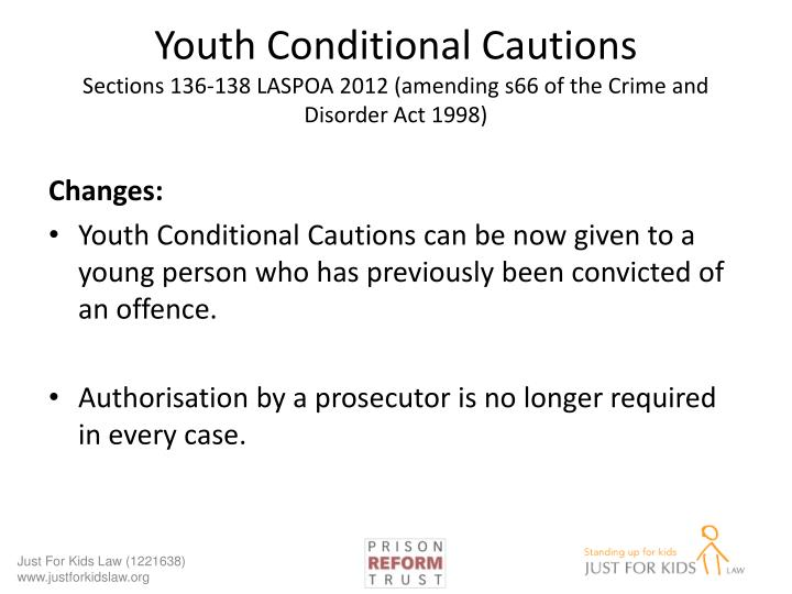 Youth Conditional Cautions