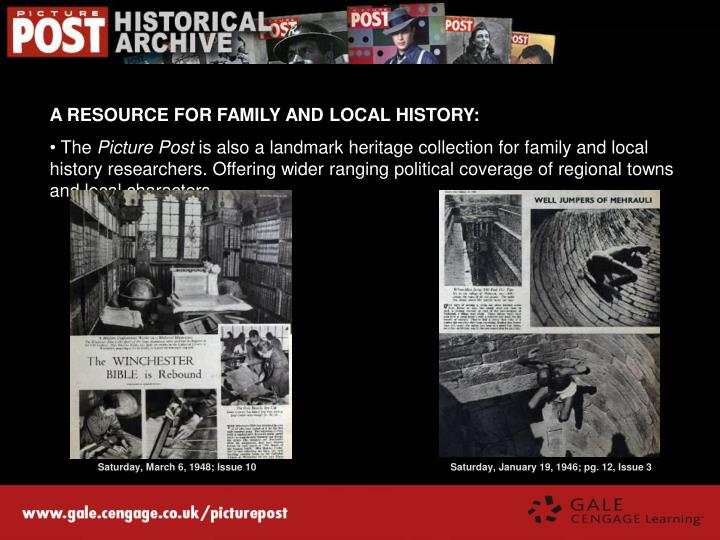 A RESOURCE FOR FAMILY AND LOCAL HISTORY: