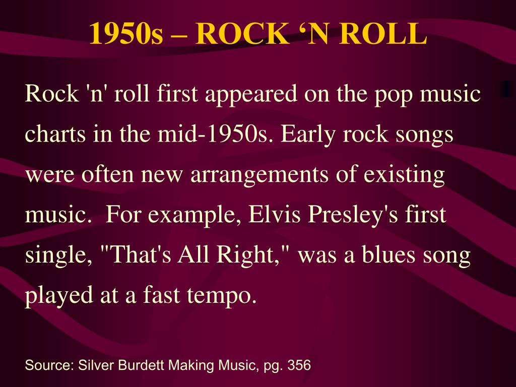 PPT - 20 th Century American Music The 1950s PowerPoint Presentation