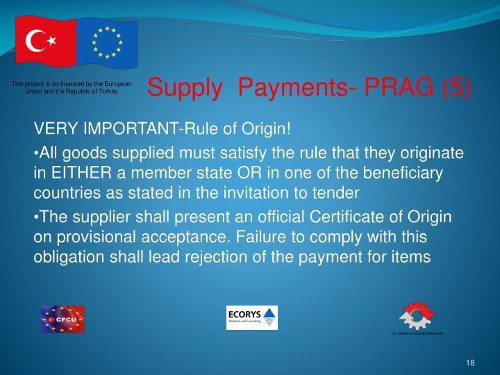 Supply  Payments- PRAG (5)