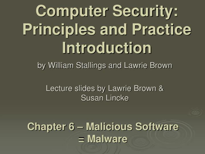 computer security principles and practice introduction n.