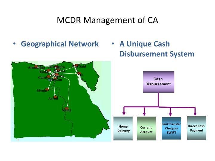 mcdr management of ca n.
