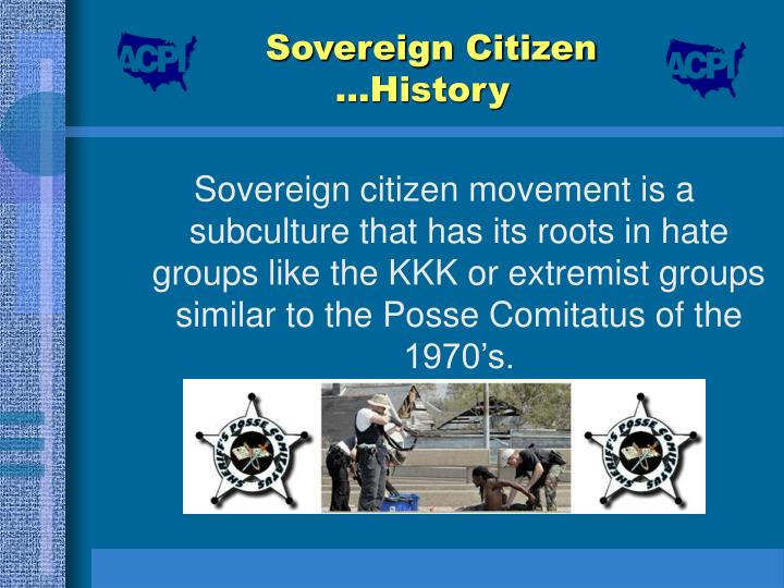 the sovereign citizen extremists criminology essay These self-described sovereign citizen extremists believe they live outside the law -- that they are purer souls caught in a corrupt governmental and societal scheme that they equate with tyranny.