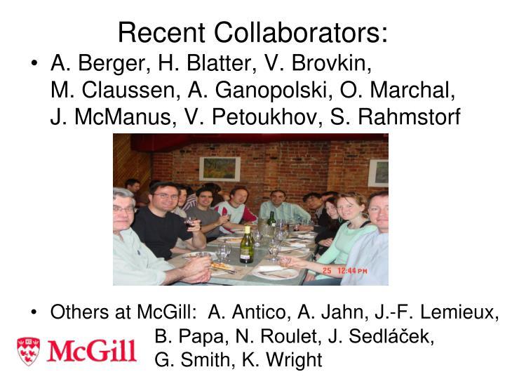 Recent collaborators