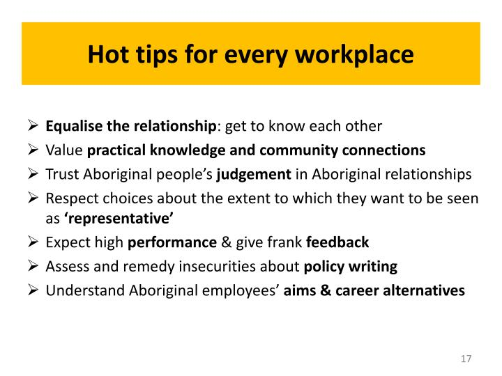 Hot tips for every workplace