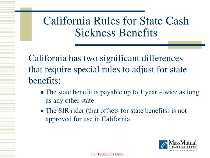 California Rules for State Cash Sickness Benefits