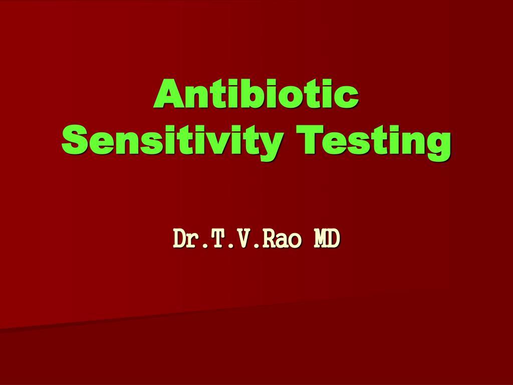 antibiotic sensitivity testing l.