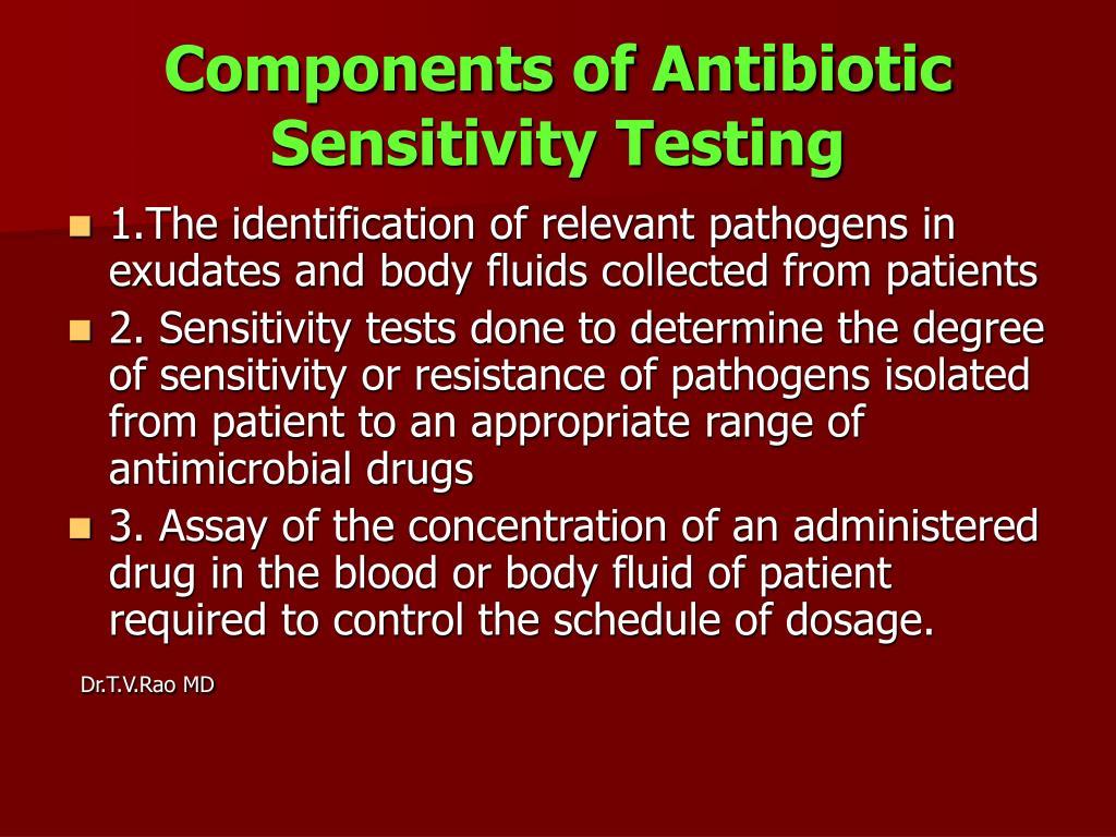 Components of Antibiotic Sensitivity Testing
