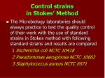control strains in stokes method