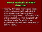 newer methods in mrsa detection