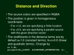 distance and direction