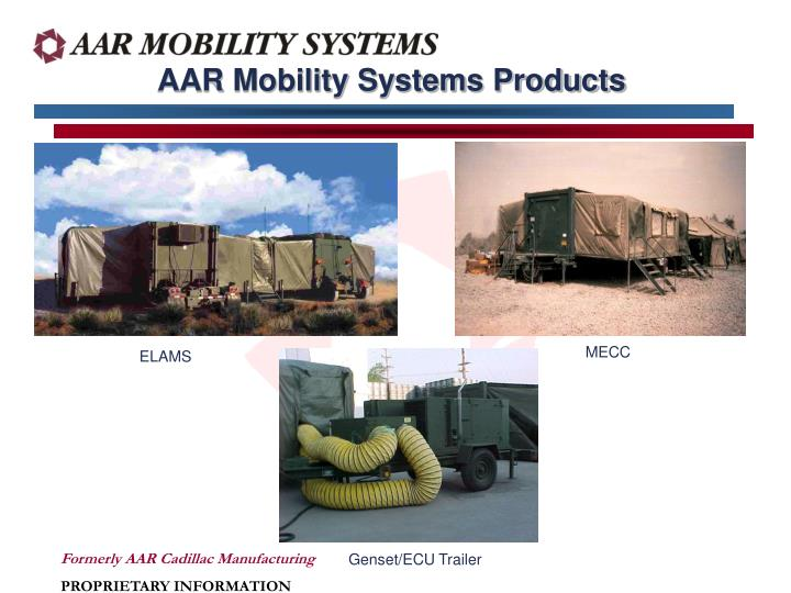 AAR Mobility Systems Products