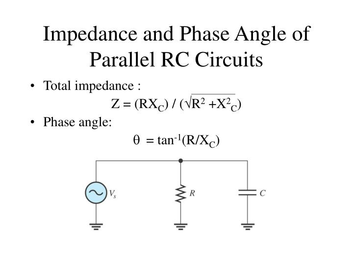 Impedance and Phase Angle of Parallel RC Circuits