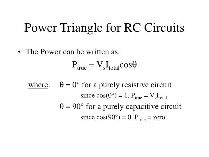 Power Triangle for RC Circuits