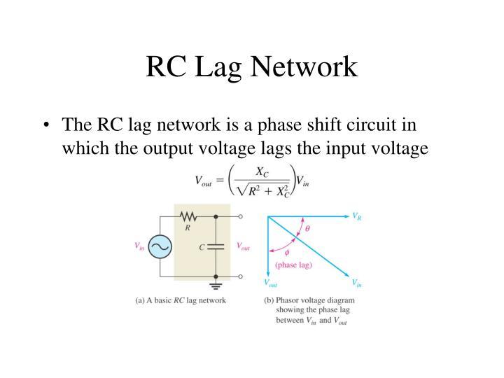 RC Lag Network