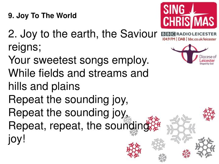 9. Joy To The World