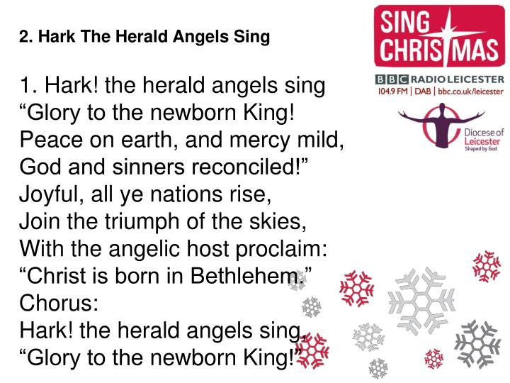 2. Hark The Herald Angels Sing