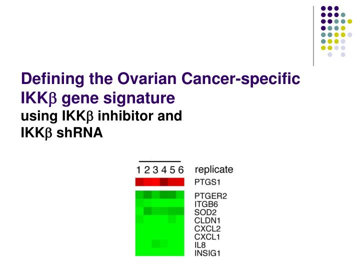 Defining the Ovarian Cancer-specific IKK