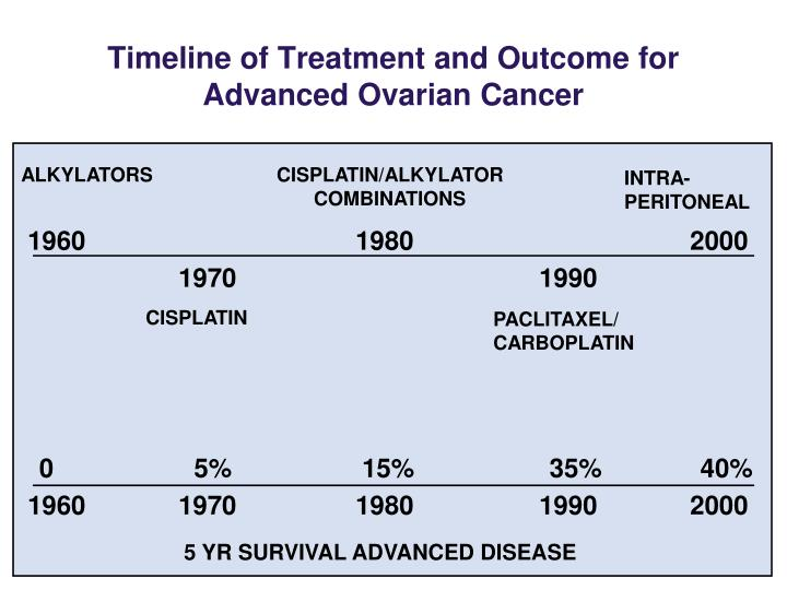 Timeline of Treatment and Outcome for Advanced Ovarian Cancer