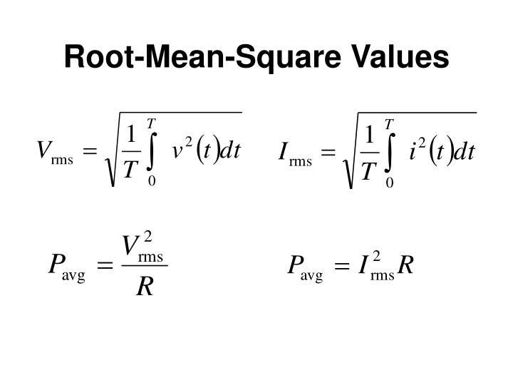 Root-Mean-Square Values