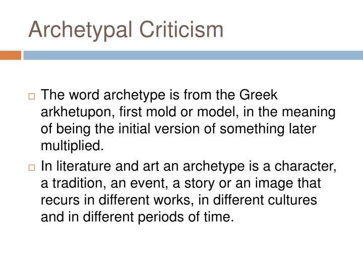 Archetypal criticism1