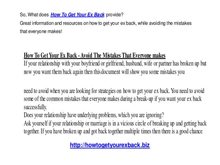 How to get your ex back 11109