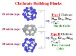 clathrate building blocks