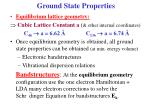 ground state properties