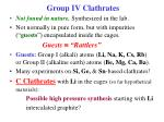 group iv clathrates