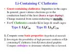 li containing c clathrates