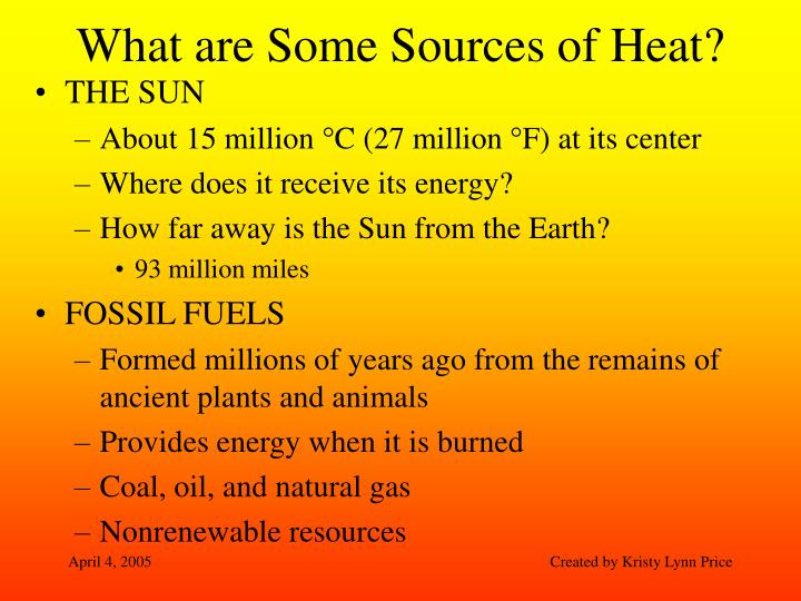 What are Some Sources of Heat?