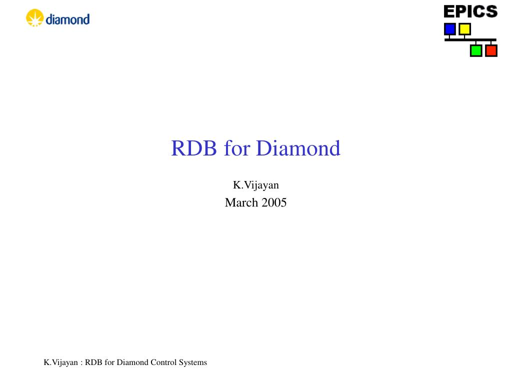 rdb for diamond l.