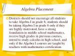 algebra placement