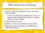 motivating factors for change
