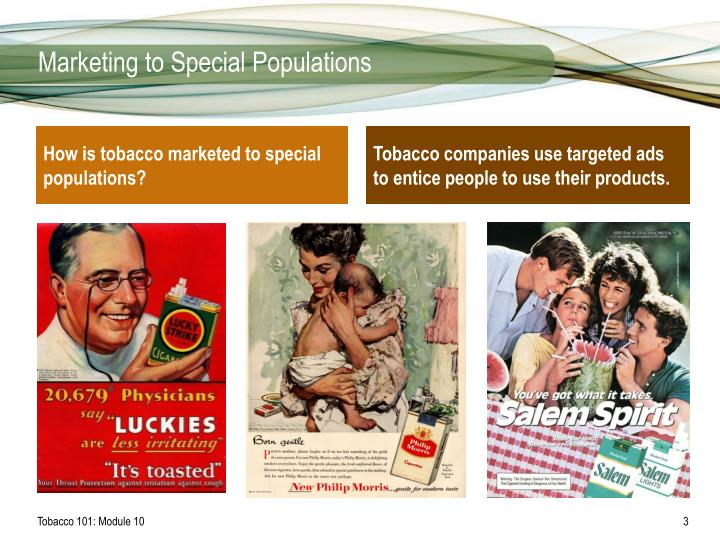 Marketing to special populations