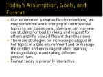 today s assumption goals and format