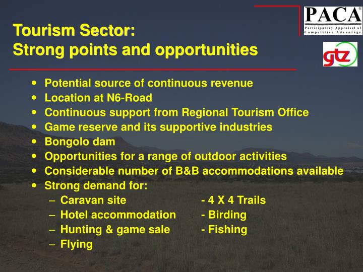 Tourism Sector: