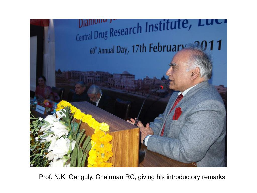 Prof. N.K. Ganguly, Chairman RC, giving his introductory remarks