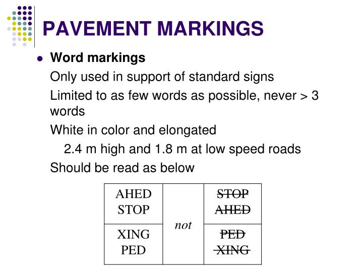 PAVEMENT MARKINGS