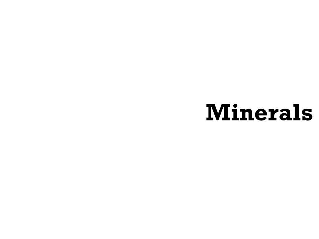 minerals l.
