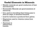 useful elements in minerals