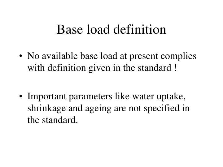Base load definition