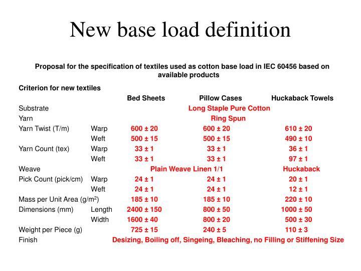 New base load definition