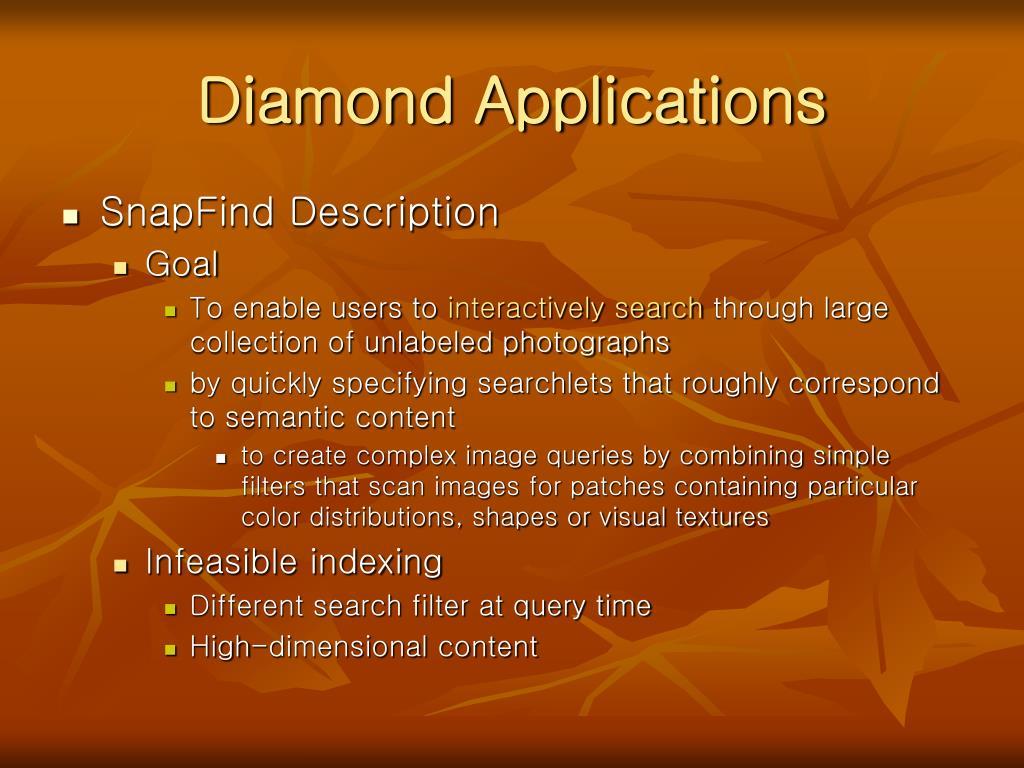 Diamond Applications