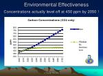 environmental effectiveness concentrations actually level off at 450 ppm by 2050