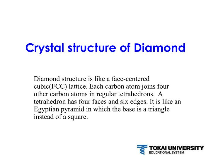 crystal structure of diamond n.