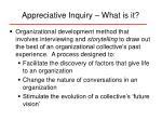 appreciative inquiry what is it